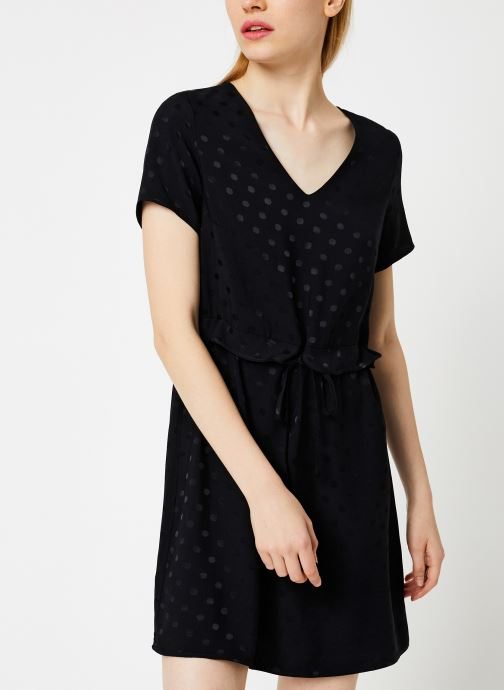 Vêtements I.Code Robe Lien Taille QP30274 Noir vue droite