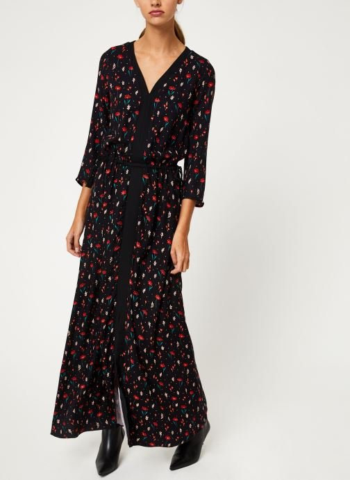 Vêtements I.Code Robe Fleurie Lien Taille QP30304 Noir vue bas / vue portée sac