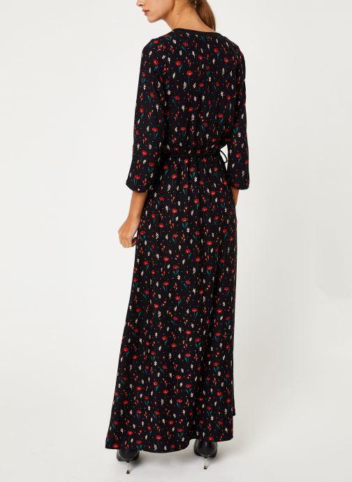 Vêtements I.Code Robe Fleurie Lien Taille QP30304 Noir vue portées chaussures