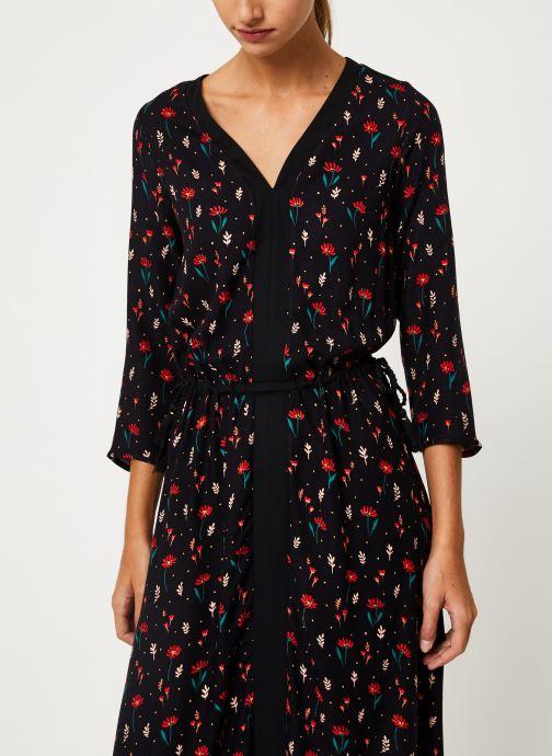 Vêtements I.Code Robe Fleurie Lien Taille QP30304 Noir vue détail/paire