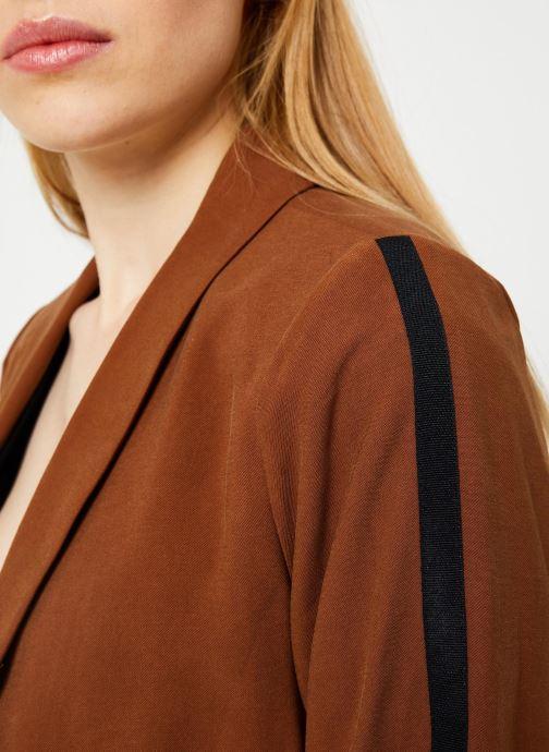 Vêtements I.Code Veste Col Chale QP40044 Marron vue face