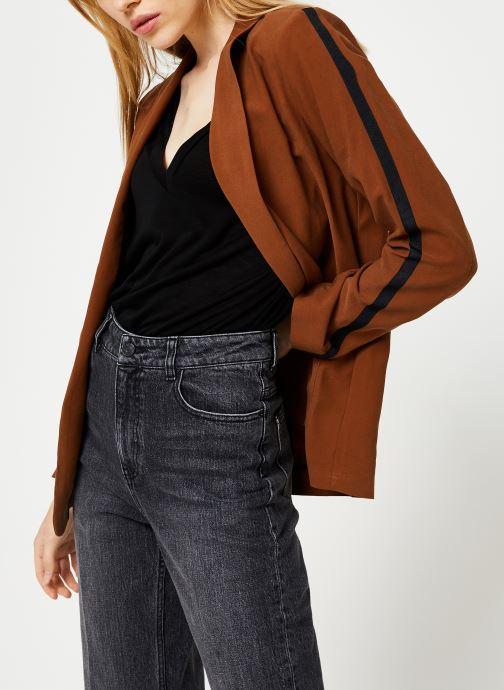 Vêtements I.Code Veste Col Chale QP40044 Marron vue droite