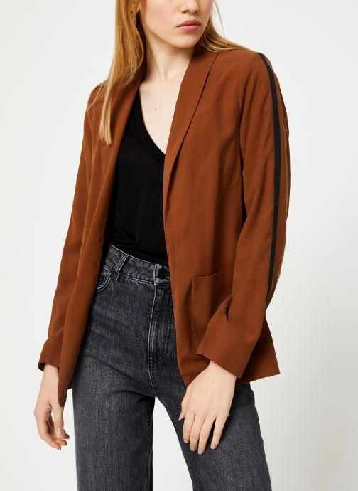 Vêtements I.Code Veste Col Chale QP40044 Marron vue détail/paire