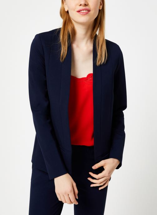 Vêtements I.Code Veste Bande Sport QP40064 Bleu vue droite