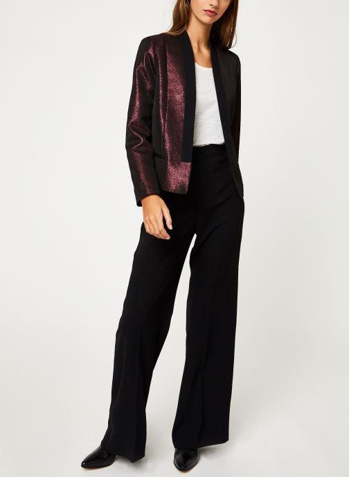 Vêtements I.Code Veste Allover Cherry QP40094 Bordeaux vue bas / vue portée sac