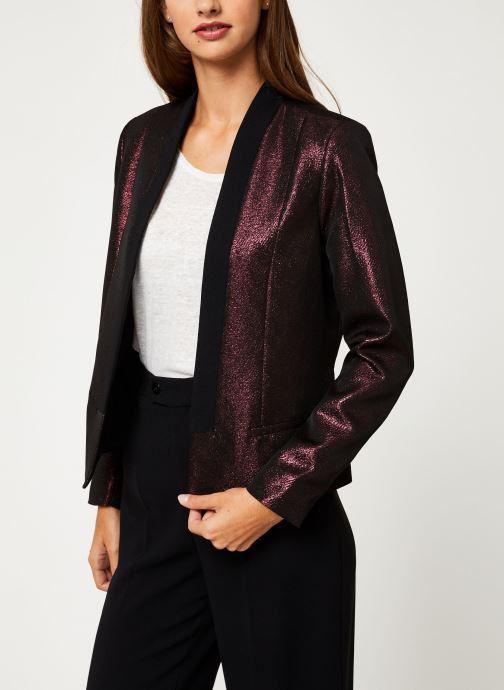 Vêtements I.Code Veste Allover Cherry QP40094 Bordeaux vue droite