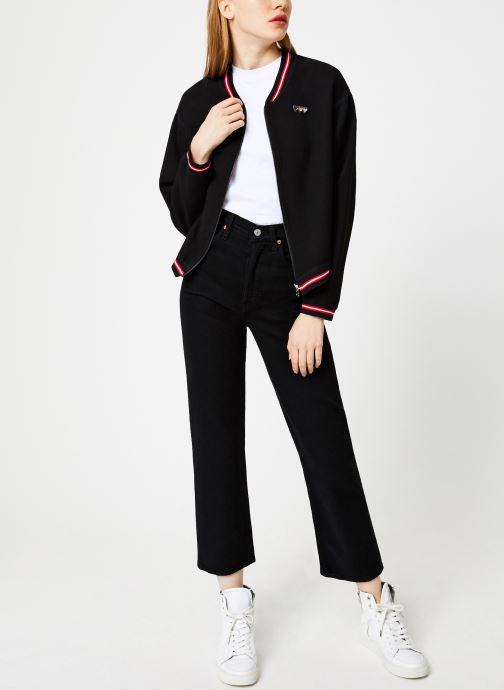 Vêtements I.Code Teddy Reversible Noir Paparika QP41054 Noir vue bas / vue portée sac