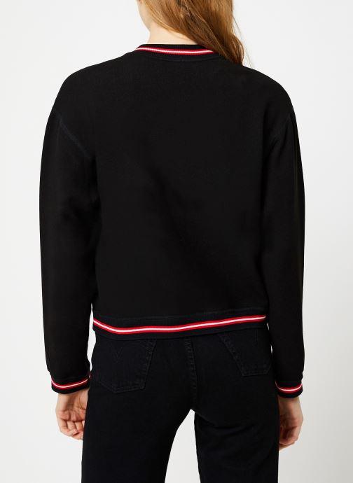 Vêtements I.Code Teddy Reversible Noir Paparika QP41054 Noir vue portées chaussures