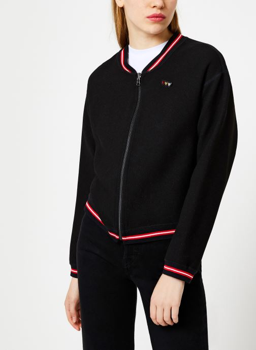 Vêtements I.Code Teddy Reversible Noir Paparika QP41054 Noir vue droite