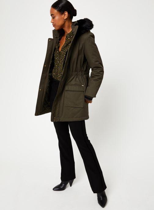 Vêtements I.Code Parka Kaki QP42024 Vert vue bas / vue portée sac