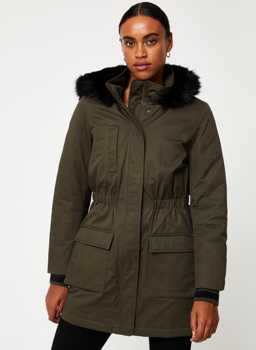 Vêtements I.Code Parka Kaki QP42024 Vert vue détail/paire