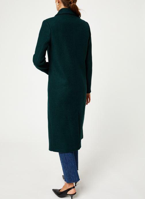 Vêtements I.Code Manteau Vert Imperial QP44054 Vert vue portées chaussures