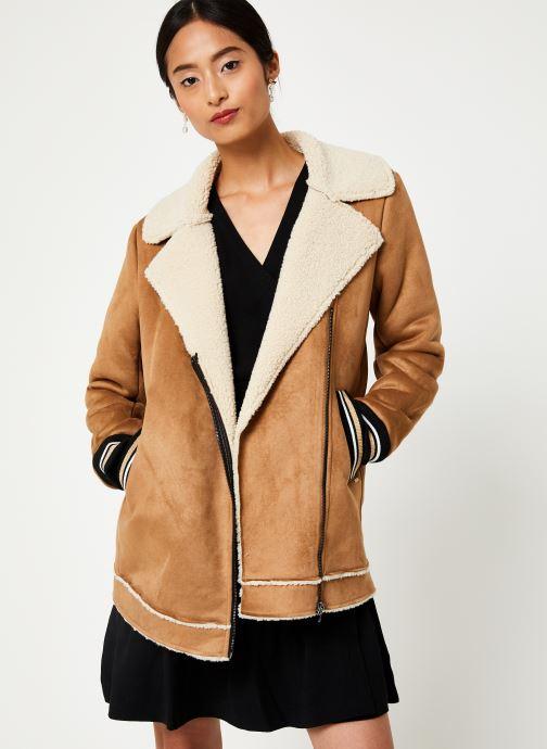 Vêtements I.Code Manteau Peau Lainée QP44084 Marron vue droite