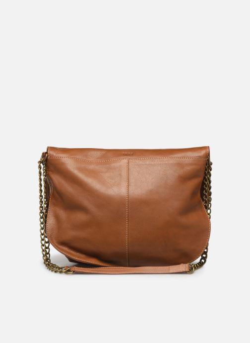 Handbags IKKS Women Sac cuir Plum Camel BL95099 Brown front view