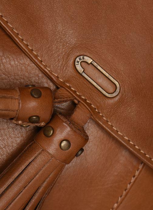 Sacs à main IKKS Women Sac cuir Plum Camel BL95099 Marron vue gauche