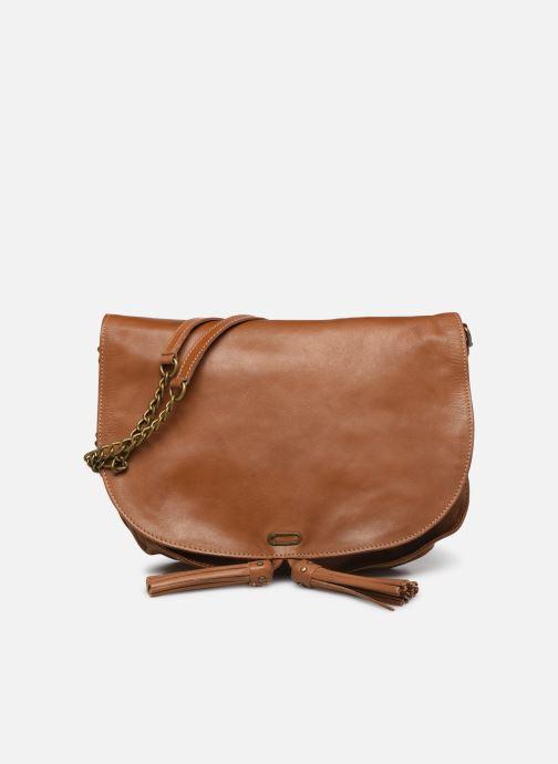 Handbags IKKS Women Sac cuir Plum Camel BL95099 Brown detailed view/ Pair view
