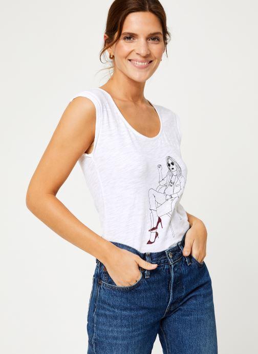 Vêtements IKKS Women Tee-Shirt Blanc BP10065 Blanc vue détail/paire