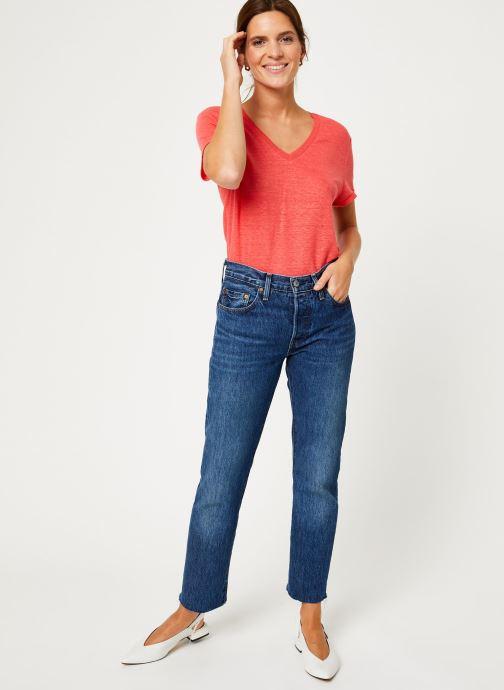 Vêtements IKKS Women Tee-Shirt Fraise Lin BP10075 Rouge vue bas / vue portée sac