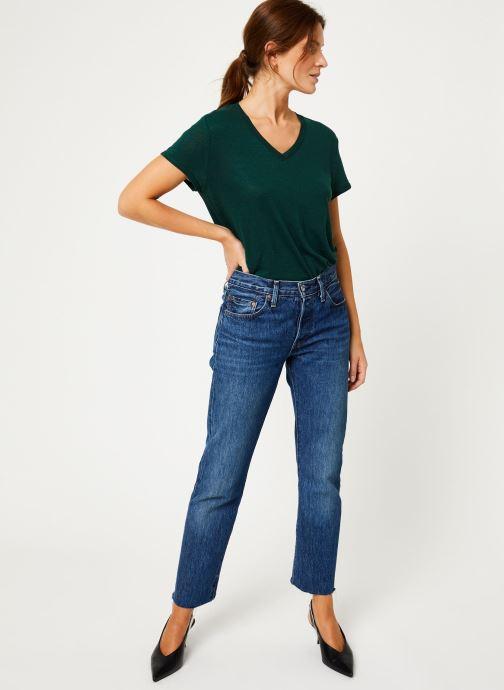 Vêtements IKKS Women Tee-Shirt Lin Cyprès BP10075 Vert vue bas / vue portée sac