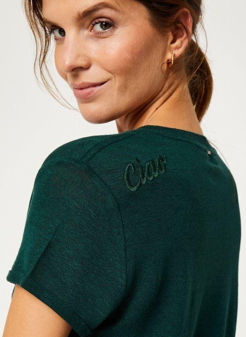 Vêtements IKKS Women Tee-Shirt Lin Cyprès BP10075 Vert vue face