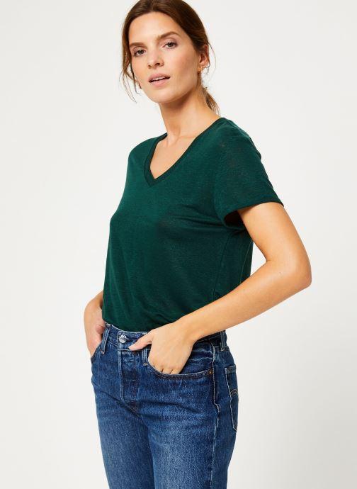 Vêtements IKKS Women Tee-Shirt Lin Cyprès BP10075 Vert vue droite