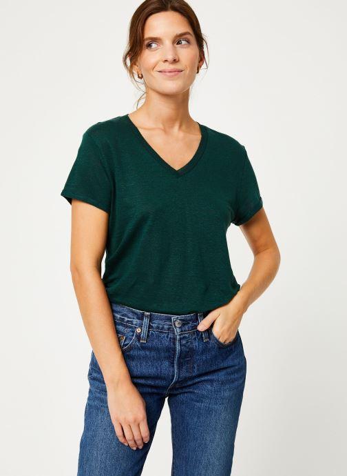 Vêtements IKKS Women Tee-Shirt Lin Cyprès BP10075 Vert vue détail/paire