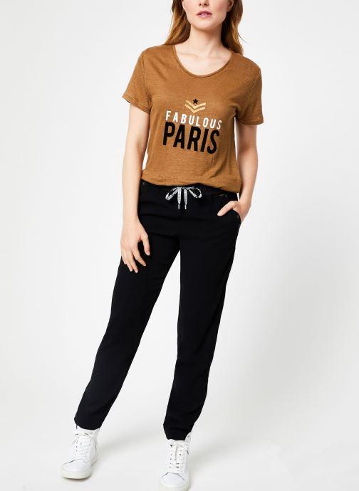 Vêtements IKKS Women Tee-Shirt Camel Paris BP10155 Marron vue bas / vue portée sac