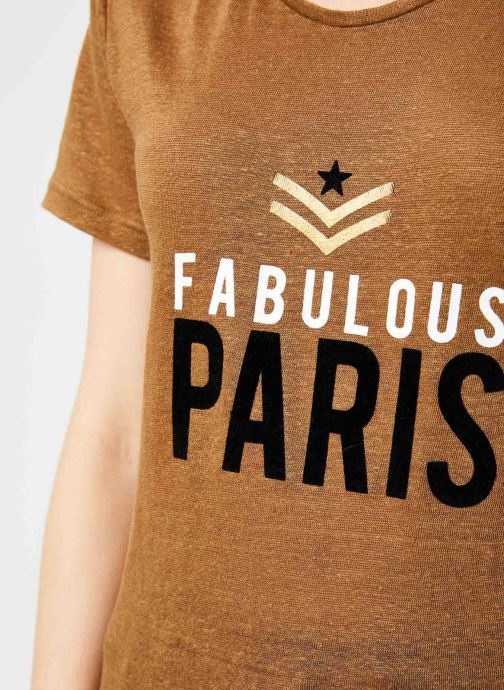 Vêtements IKKS Women Tee-Shirt Camel Paris BP10155 Marron vue face