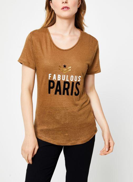Vêtements IKKS Women Tee-Shirt Camel Paris BP10155 Marron vue droite