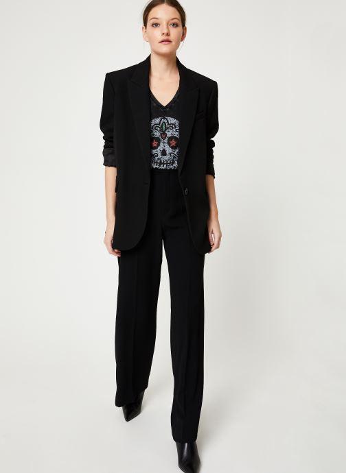 Vêtements IKKS Women Tee-Shirt Tête De Mort BP10165 Noir vue bas / vue portée sac