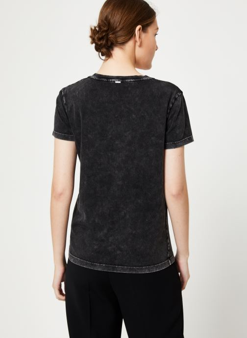 Vêtements IKKS Women Tee-Shirt Tête De Mort BP10165 Noir vue portées chaussures