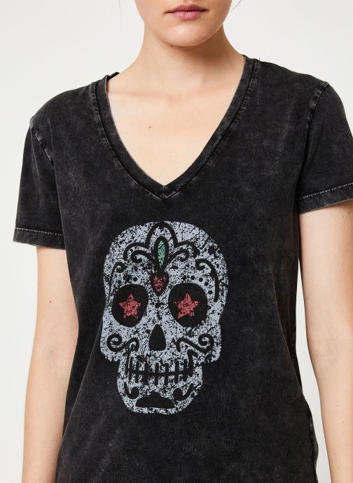 Kleding IKKS Women Tee-Shirt Tête De Mort BP10165 Zwart voorkant