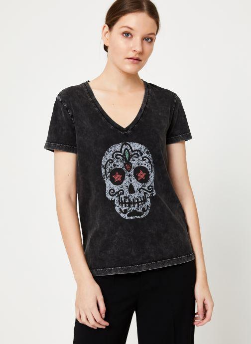 Kleding IKKS Women Tee-Shirt Tête De Mort BP10165 Zwart rechts