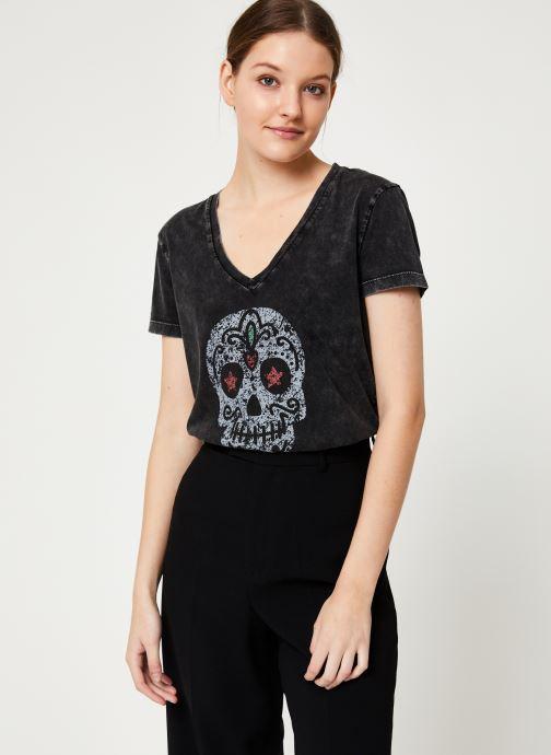Kleding IKKS Women Tee-Shirt Tête De Mort BP10165 Zwart detail