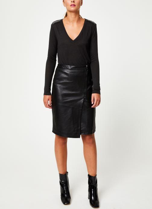 Vêtements IKKS Women Tee-Shirt Noir ML BP10205 Noir vue bas / vue portée sac
