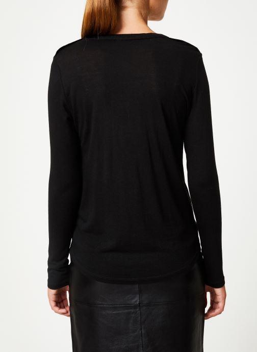Vêtements IKKS Women Tee-Shirt Noir ML BP10205 Noir vue portées chaussures