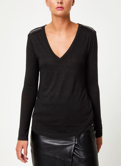 Vêtements IKKS Women Tee-Shirt Noir ML BP10205 Noir vue droite