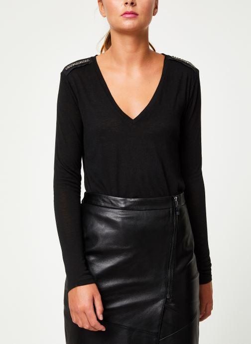 Vêtements IKKS Women Tee-Shirt Noir ML BP10205 Noir vue détail/paire