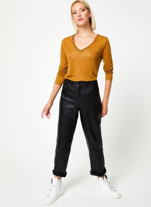 Vêtements IKKS Women Tee-Shirt Safran BP10215 Marron vue bas / vue portée sac
