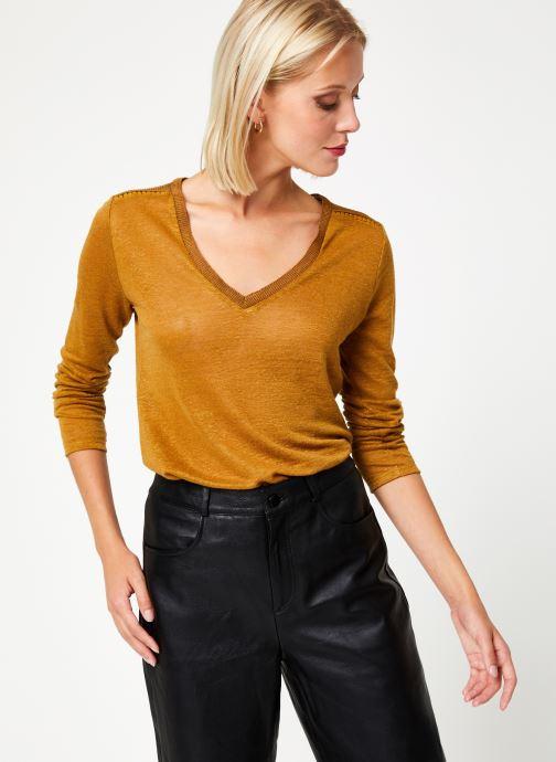Vêtements IKKS Women Tee-Shirt Safran BP10215 Marron vue droite