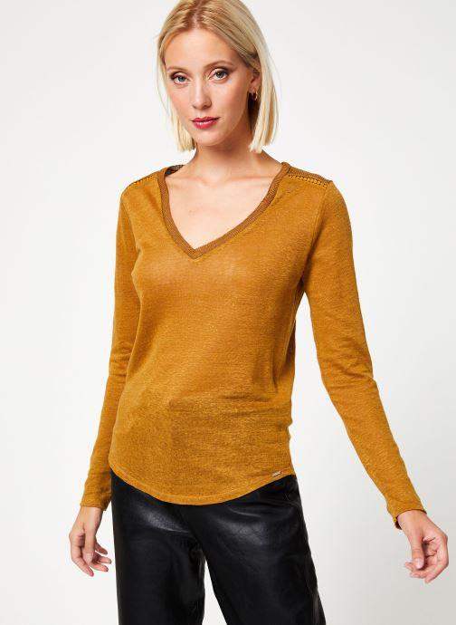 Vêtements IKKS Women Tee-Shirt Safran BP10215 Marron vue détail/paire