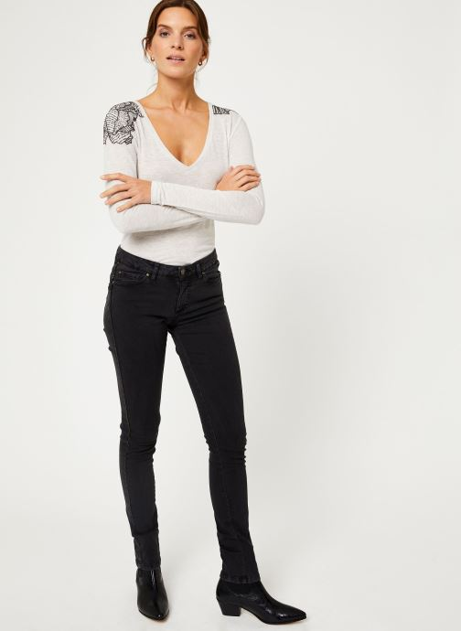 Vêtements IKKS Women Tee-Shirt Ivoire BP10285 Beige vue bas / vue portée sac