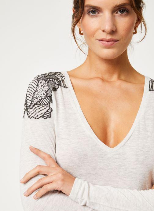 Vêtements IKKS Women Tee-Shirt Ivoire BP10285 Beige vue face