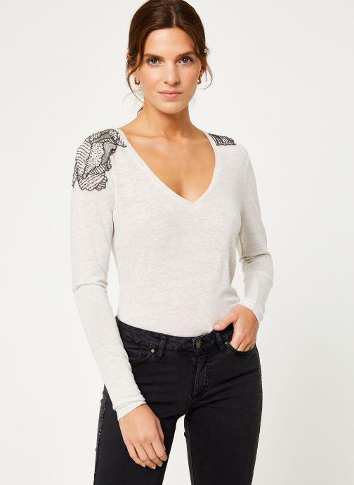 Vêtements IKKS Women Tee-Shirt Ivoire BP10285 Beige vue détail/paire