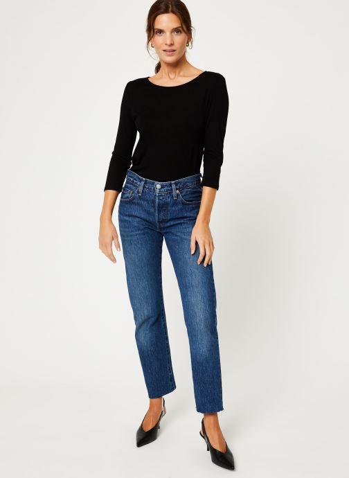 Vêtements IKKS Women Tee-Shirt dentelle dos BP10305 Noir vue bas / vue portée sac