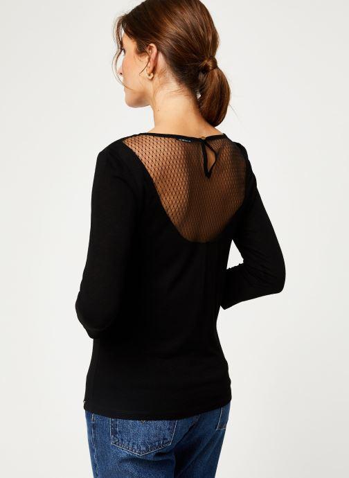 Vêtements IKKS Women Tee-Shirt dentelle dos BP10305 Noir vue portées chaussures