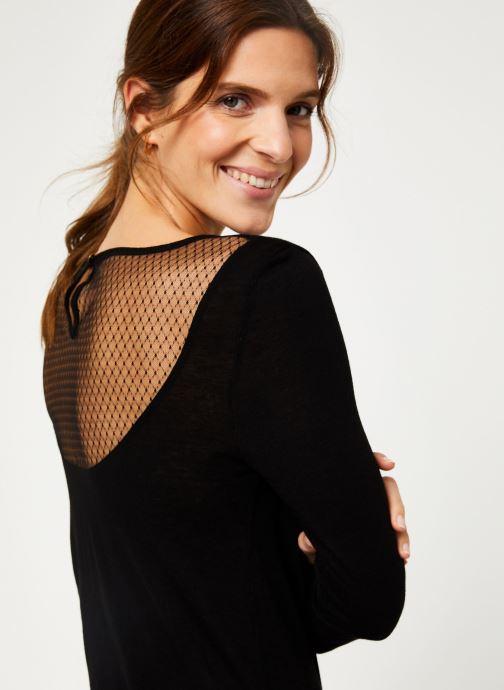 Vêtements IKKS Women Tee-Shirt dentelle dos BP10305 Noir vue face