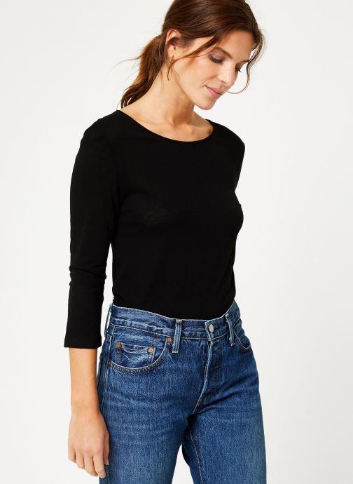 Vêtements IKKS Women Tee-Shirt dentelle dos BP10305 Noir vue droite