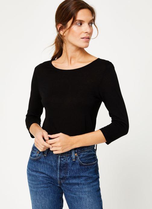 Vêtements IKKS Women Tee-Shirt dentelle dos BP10305 Noir vue détail/paire