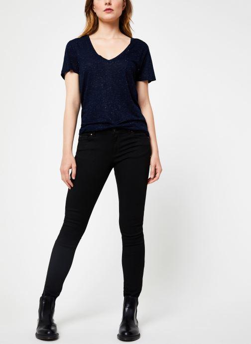 Vêtements IKKS Women Tee-Shirt Rock BP10445 Bleu vue bas / vue portée sac